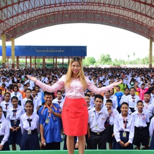 Pitima Inspiring 4000 People at HRH Princess Sirindron's School